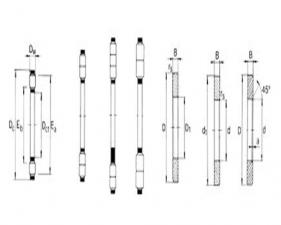 推力圆柱滚子和保持架组件